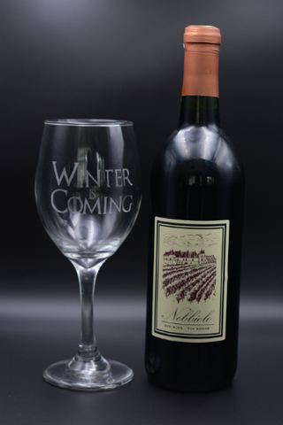 Game Of Thrones Red Wine Glasses Laser Etched, Best Quality GOT Famous Quotes