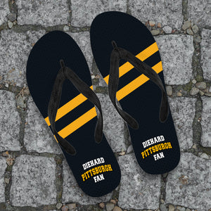 Diehard Pittsburgh Fan Flip Flops