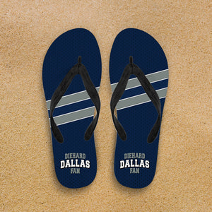 Diehard Dallas Fan Flip Flop