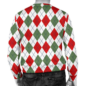 Argyle Plaid Pattern Christmas Sweater