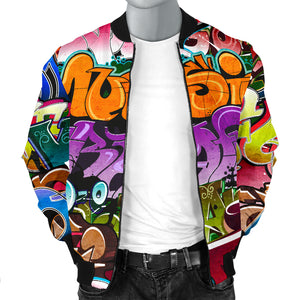 Graffiti Modern Art Word Bomber jacket - Men's