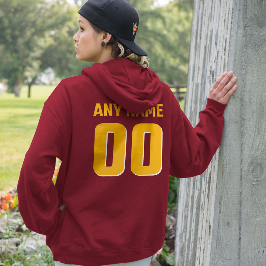 Personalized Arizona State Devils Adult Hoodie - Any Name & Number