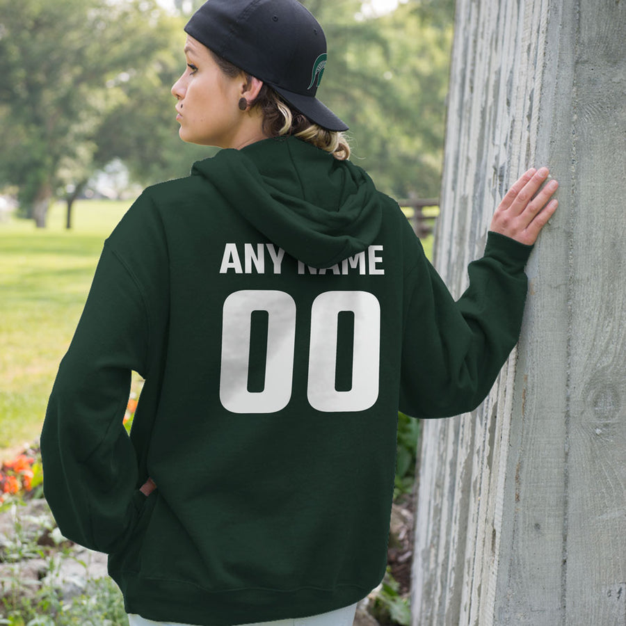Personalized Michigan State Spartans Adult Hoodie - Any Name & Number