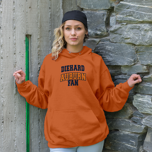 Personalized Auburn Fans Adult Hoodie - Front & Back Design