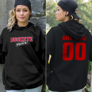 Personalized Ohio State Buckeye Fans Adult Hoodie - Front & Back Design