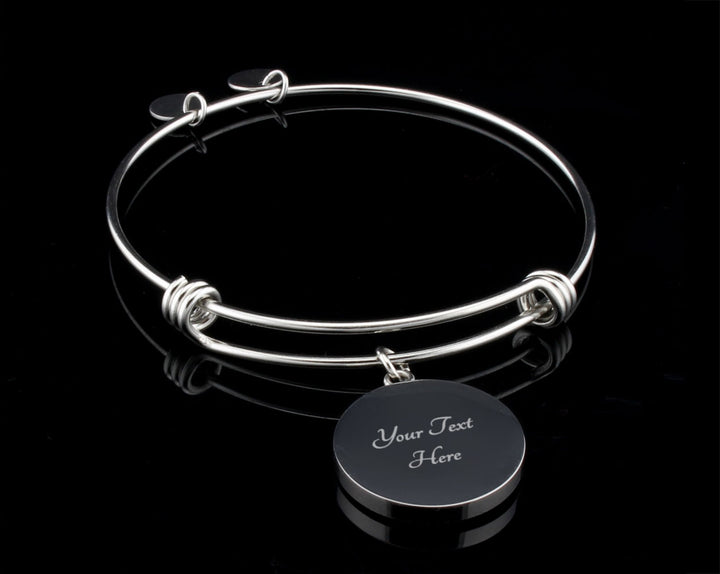 Luxury Bangle (Silver) - I Loved You Then (Mom)