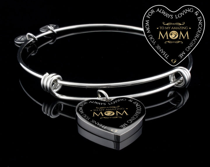 Luxury Bangle (Silver) - To My Amazing Mom
