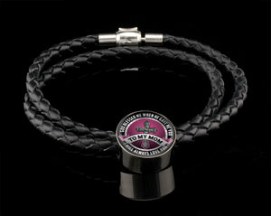 Luxury Leather Bracelet - God Blessed Me