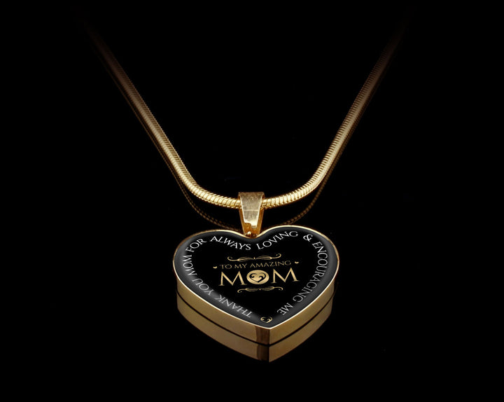 Luxury Necklace (Gold) - To My Amazing Mom