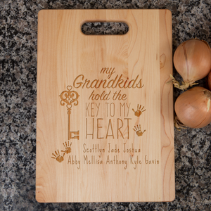 Grandma Personalized Maple Cutting Board - Grandkids Names