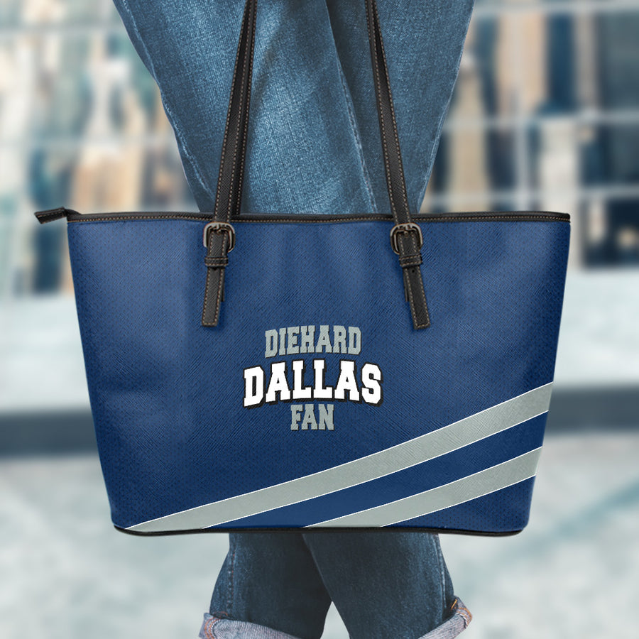 Diehard Dallas Fan Large Leather Tote