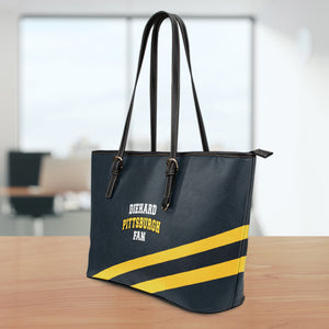 Diehard Pittsburgh Fan Large Leather Tote