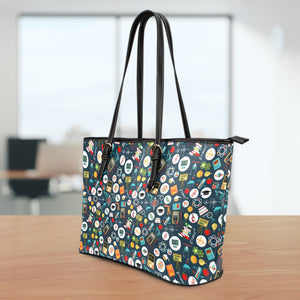 Teacher Large Leather Tote Bag