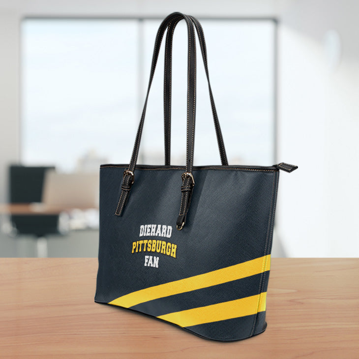 Diehard Pittsburgh Fan Leather Tote