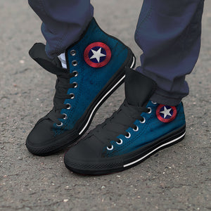 Captain America HighTop Canvas Shoes