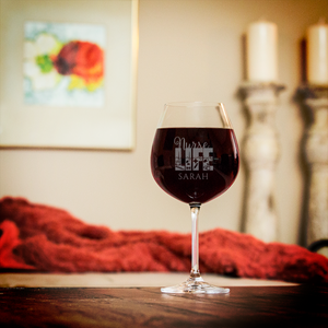 Personalized Nurse Life Red Wine Glass