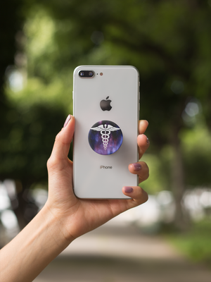 Caduceus Nurse Pop-Out Phone Grip For Smartphone & Tablets