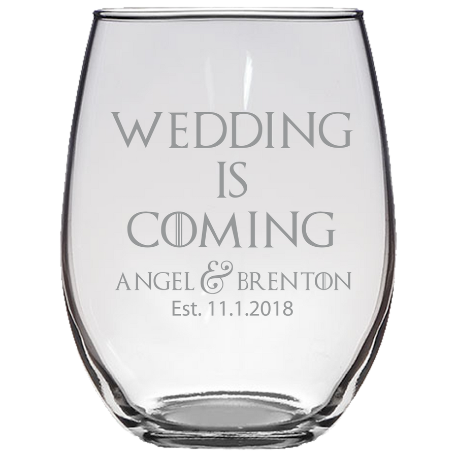 GOT Stark Quote Stemless Wine Glass Laser Etched No Colored Art