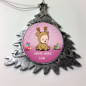 Personalized Christmas Ornament Baby Girl's First