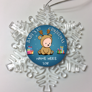 Personalized Christmas Family Tree Ornament