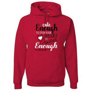 Nurse Adult Hoodie - Cute Enough To Stop