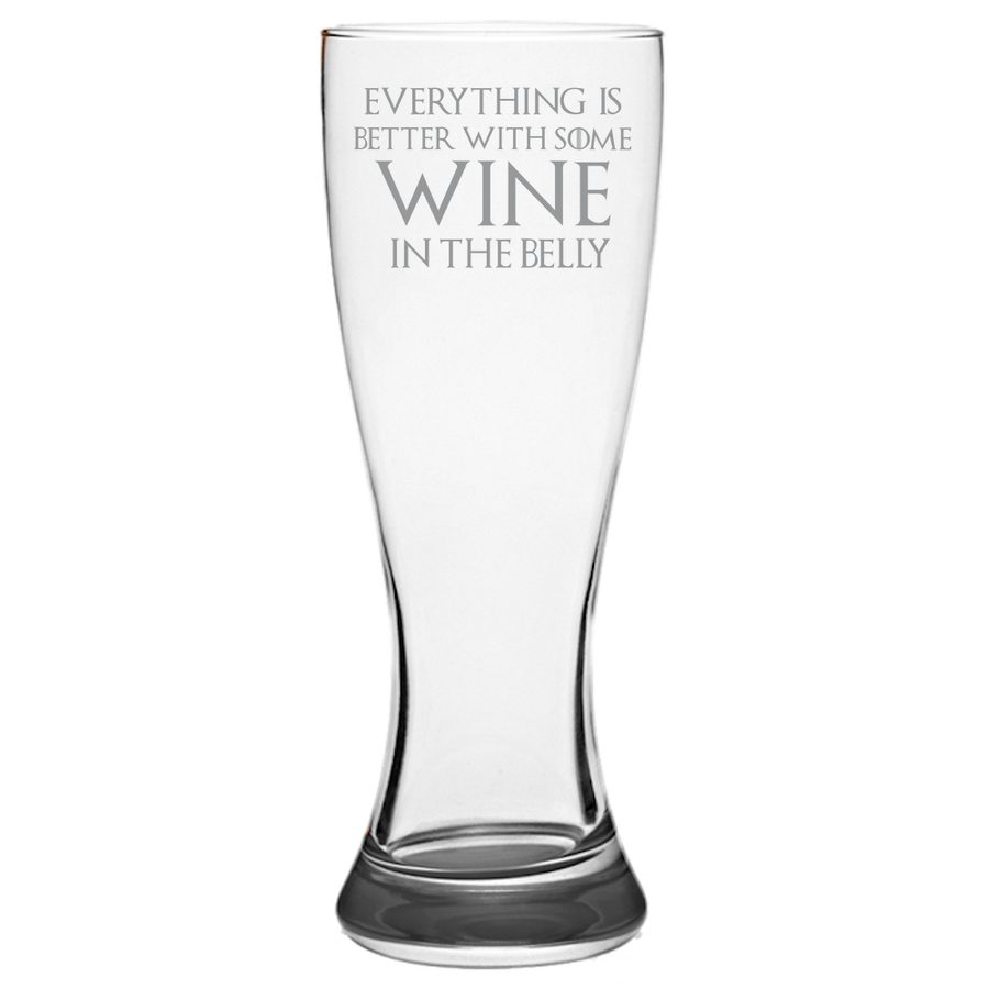 GOT Tyrion Lannister Quote Pilsner Glass Laser Etched No Colored Art