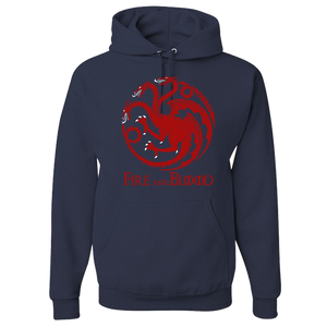Game Of Thrones Adult Hoodie - GOT Fans House Targaryen Design