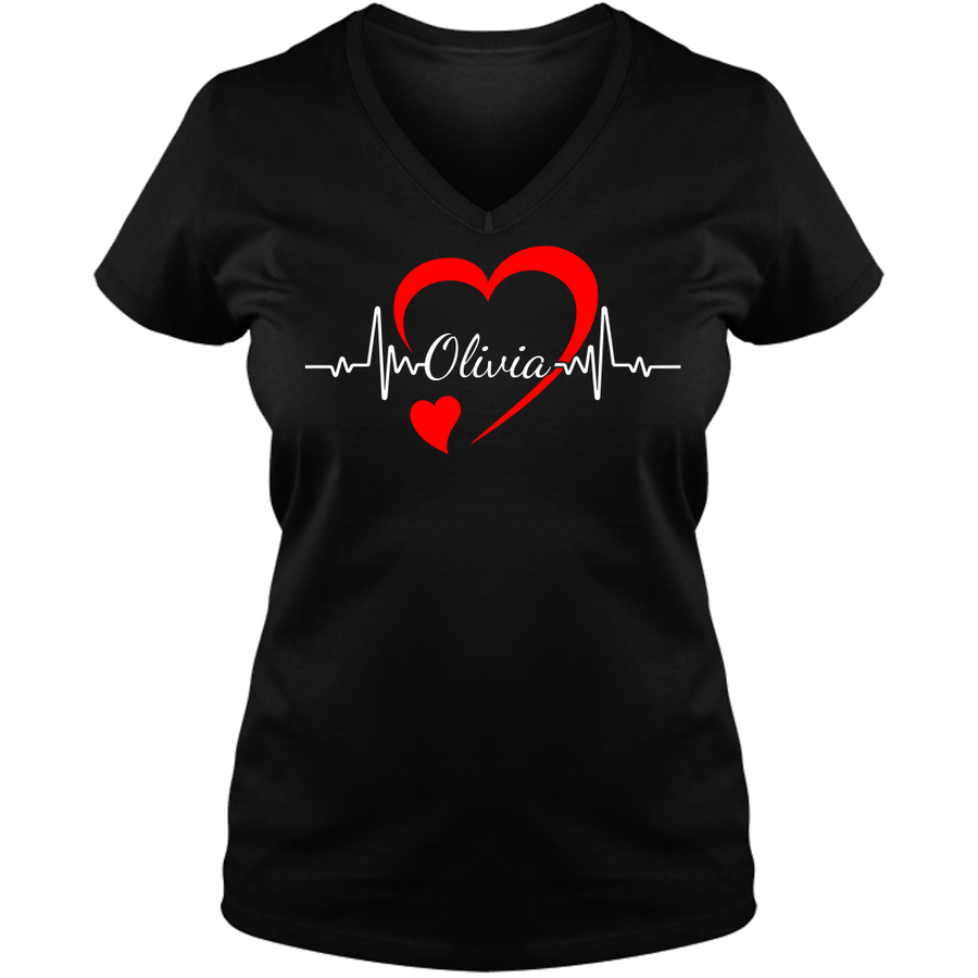 Personalized Nurse Ladies V Neck Tee