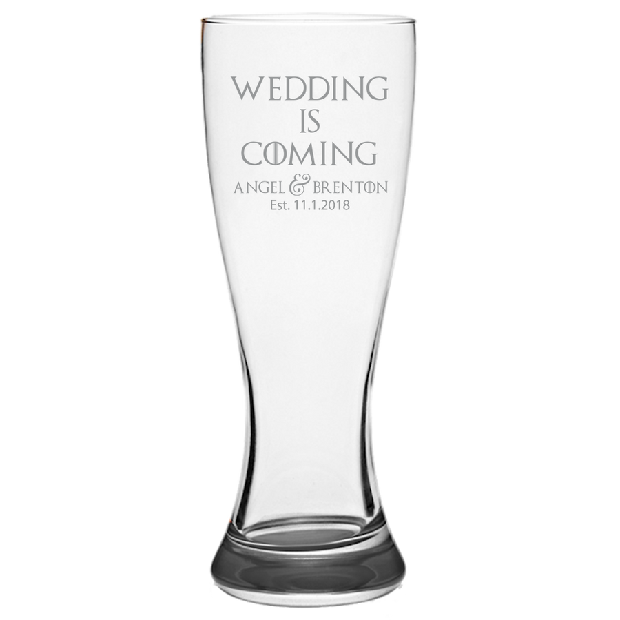 GOT Stark Quote Pilsner Glass Laser Etched No Colored Art