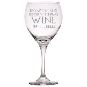 GOT Tyrion Lannister Quote Red Wine Glass Laser Etched No Colored Art