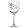 GOT Lannister Quote Red Wine Glass Laser Etched No Colored Art