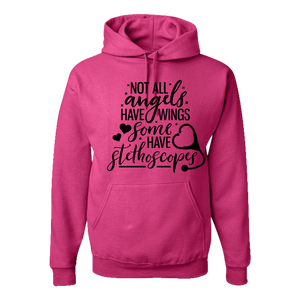 Nurse Hoodie - not all angels have wings