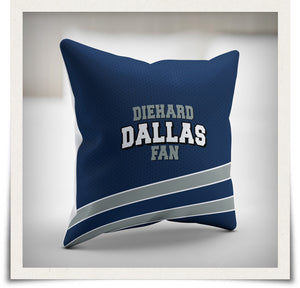 Diehard Dallas Fan Pillow Cover