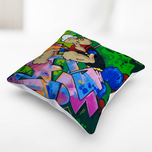 Popeye  Graffiti Art Pillow Case