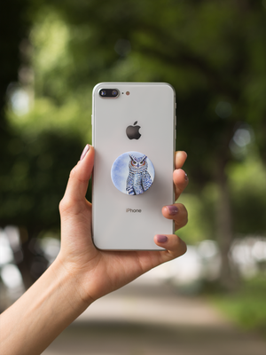 Owl Art Pop-Out Phone Grip For Smartphone & Tablets