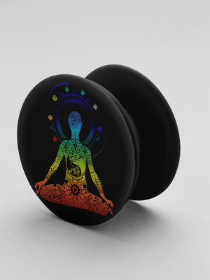 Yoga Man Art Pop-Out Phone Grip For Smartphone & Tablets