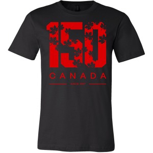 Canada Pride Canvas 100% Cotton Unisex 150 Canada Day T-Shirt