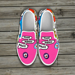 Texas Nurse Slip Ons