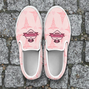 MS Nurse Pink Slip Ons