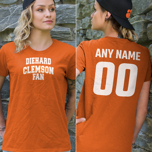 Personalized Clemson Fans Adult Unisex T-Shirt - Front & Back Design