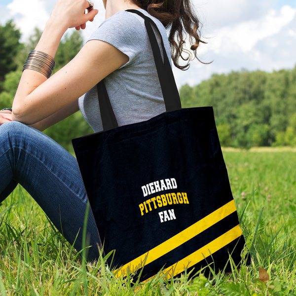 Diehard Pittsburgh Fan Tote Bag