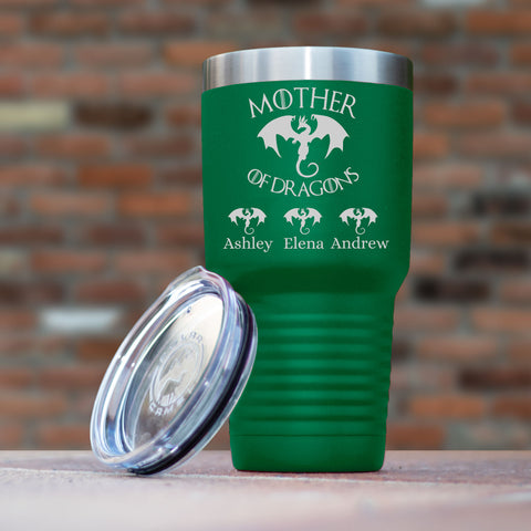 Mother's Day Gift Personalized Tumbler, Laser Etched With Mother Of Dragons Game Of Thrones Quote