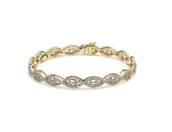 18K Yellow Gold Diamond Bangle W/ 2.52ct VVS Diamonds & Crossover Pattern | Diamonds are the perfect way to enhance your everyday with a hint of luxury, such as this 18K yel...