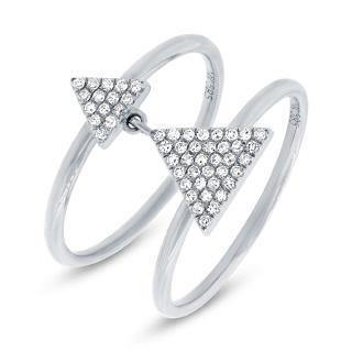 "0.17ct 14k White Gold Diamond Pave Triangle Ring | 0.17ct 14k White Gold Diamond Pave Triangle Ring""Ships in 2-4 weeks"""