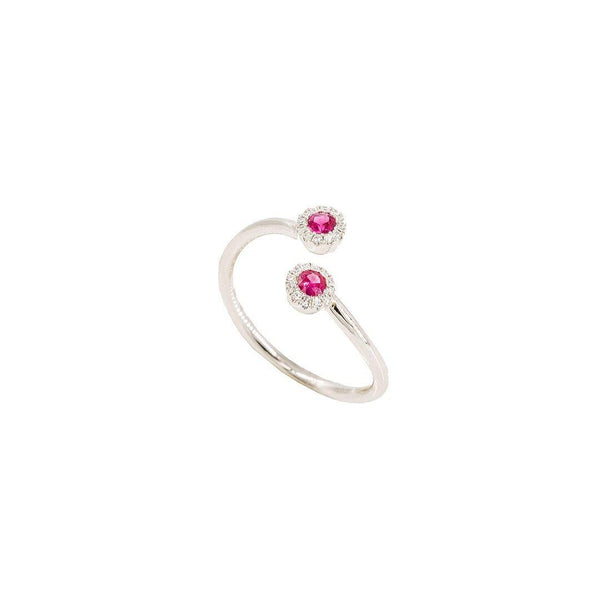 0.2 CT Diamond Finger Ring with Center Ruby Stone | 0.2 CT Diamond Finger Ring with Center Ruby Stone for Women. Ring has a weight of 2.1 grams. Ring...