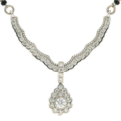 18K White Gold & Diamond Kashvi Mangalsutra Necklace