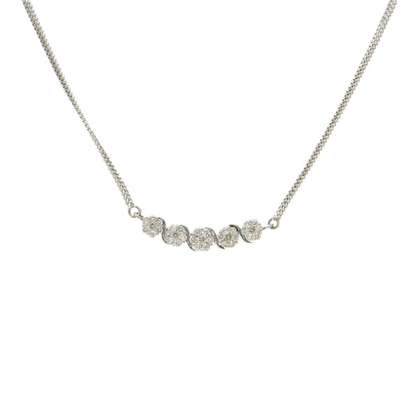 18K White Gold & Diamond Simple Jewelry Set |  Simple diamond accessories are just what a woman or girl needs to add a touch of shimmer to her ...