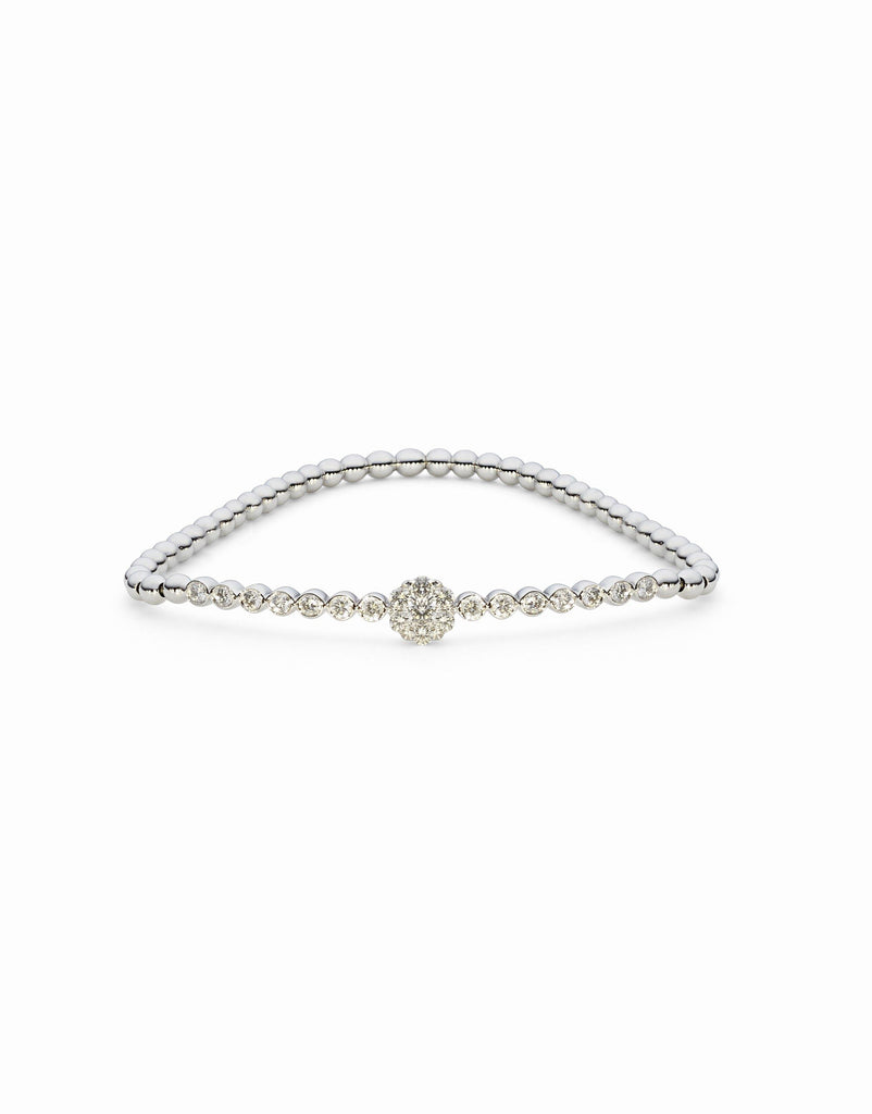 18K Yellow Gold Diamond Bangle W/ 0.75ct Channel Set Diamonds | Indulge in the guilt-free exploration of precious diamonds and gold of this exquisite women's 18K...