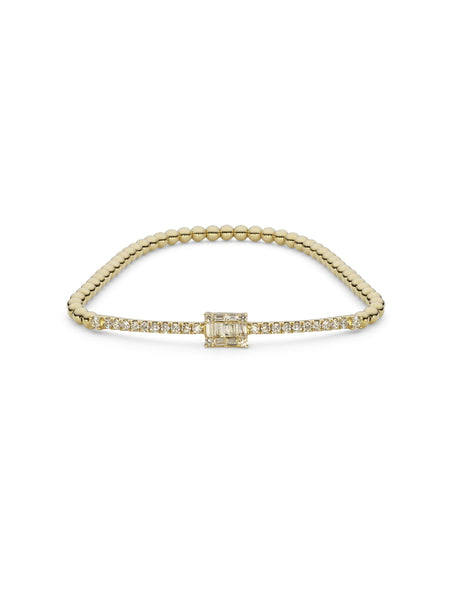 18K White Gold Diamond Bangle W/ 0.83ct Pave Set Diamonds | Indulge in the guilt-free exploration of precious diamonds and gold of this exquisite women's 18K...