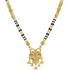 An image of an elegant double-stranded 22K yellow gold necklace from Virani Jewelers